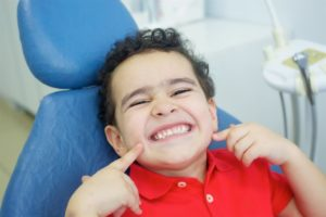 Smiling child at dentist